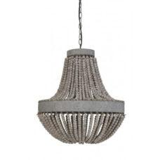Hanglamp kralen 51x63 cm Luna oud wit