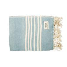 MrsBLOOM Katoen Stripe plaid Blauw - 130x170cm