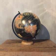 Wereldbol Zwart 30x32x40cm