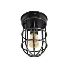 Plafondlamp Barn 12x22 cm vintage black
