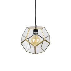 Hanglamp Geo-1 20x20cm brass antique