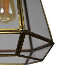 Hanglamp Geo-2 20x24cm brass antique