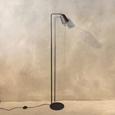 Vloerlamp 25x148cm Zwart