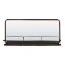 Spiegel met plank - self tin koper