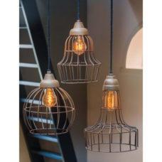 Hanglamp 20cm doorsnee Oud Roest