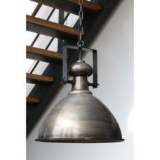 Hanglamp 43x49cm Antiek koper met glasplaat