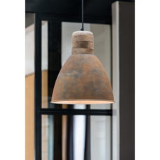 Hanglamp 31x42cm hout weather barn
