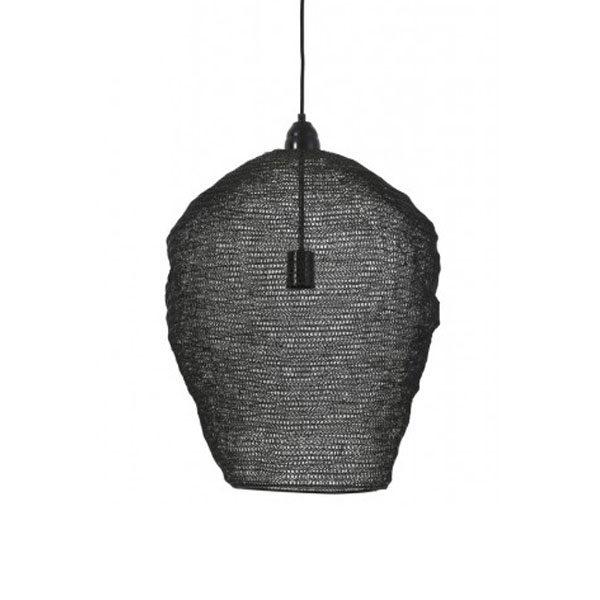Hanglamp 45x60 cm gaas glans zwart