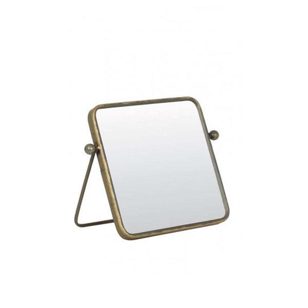 Spiegel 25x25x2 cm tin brons