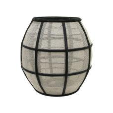 HK Living bal bamboe lantaarn zwart/naturel