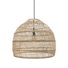 HK Living rieten hanglamp naturel 60cm