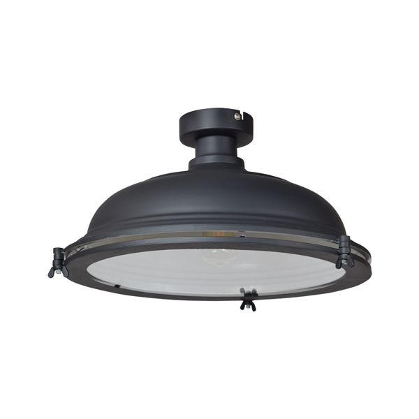 Plafondlamp Bronx mat zwart
