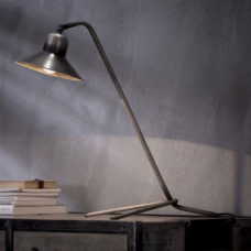 Tafellamp Bonnet triangle voet - Oud zilver