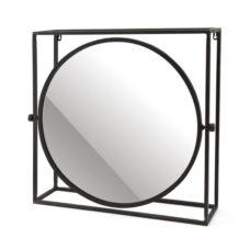 Mirror in frame Rond - Black