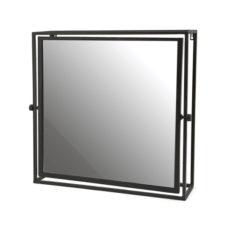 Mirror in frame Vierkant - Black
