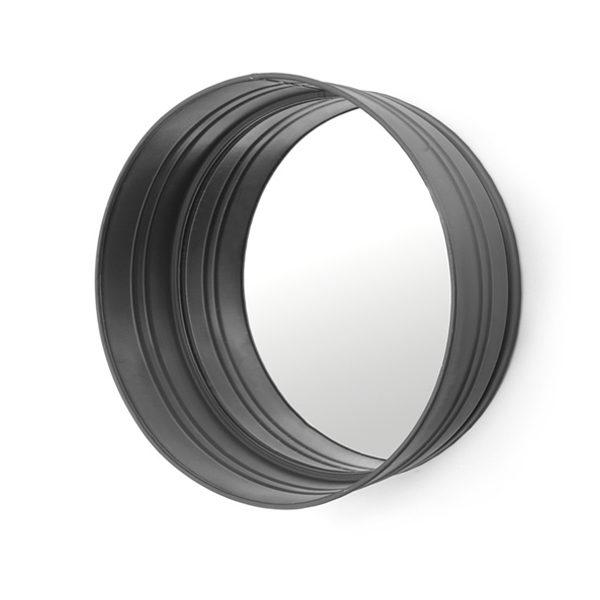 Ronde spiegel - Black