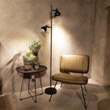 Vloerlamp 2-lichts Santo Zwart