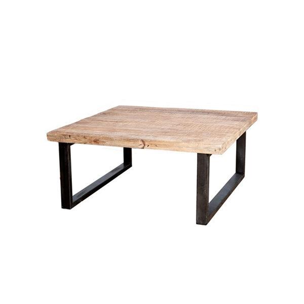 Vierkante Salontafel.Josh Salontafel Vierkant Zwart 100cm