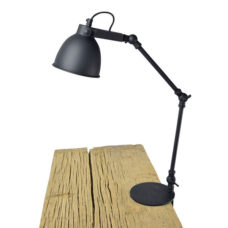 Klemlamp Worker 12cm Vintage Black