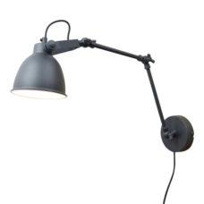 Wandlamp Desky 12cm vintage black