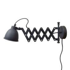 Wandlamp Harmonica 12cm vintage black