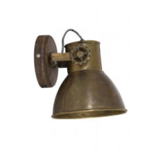 Wandlamp Elay - Hout Antiek brons 20x18x19cm