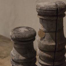 Ornament grijs - set van 3