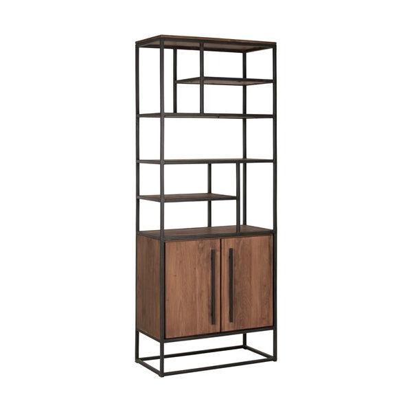 boekenkast met 2 deuren en 7 open vakken