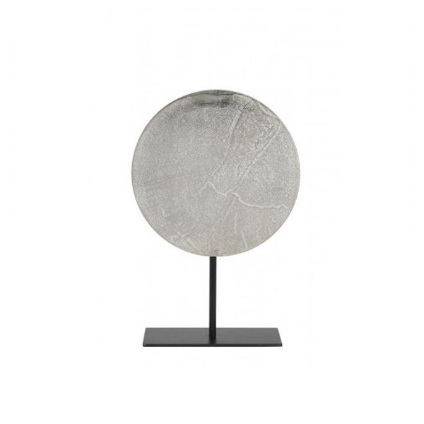 Ornament op voet Ruw Nikkel 30 cm