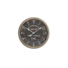 Klok donker grijs 60x11 cm