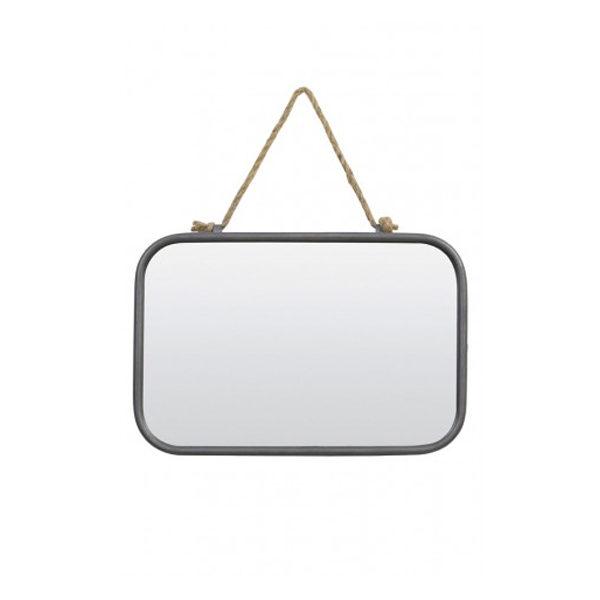 Spiegel zink met touw 26x38,5x4 cm