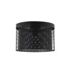 Plafonniere mat zwart metaal 35x24 cm