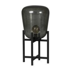 Tafellamp Benn - Zwart gun metal met glas