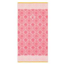 PIP Jacquard Check Douchelaken - Dark Pink