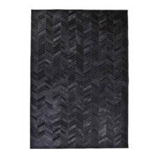 Vloerkleed Victory 160x230 cm - Zwart leder
