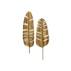 BePureHome Feathers metaal antique brass - set van 2