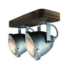 Plafondspot 2L Woody - Staal/hout