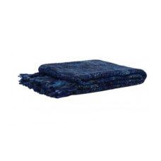 Plaid 125x150 cm donker blauw-denim