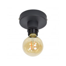 Plafondlamp Single Vintage Black