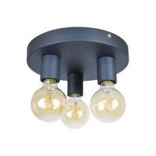 Plafondlamp Triple 25cm Vintage Black