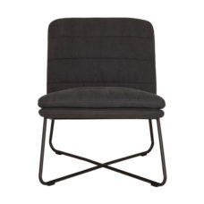 Fauteuil Stripe - Stonewashed cotton charcoal