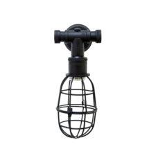 Wandlamp Sandford antiek zwart 16x12x26cm