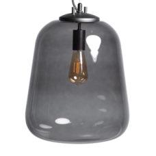 Hanglamp Benn - Zwart gun metal met glas