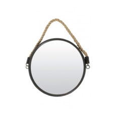 Spiegel brons met touw - 38cm