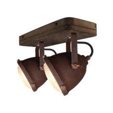 Plafondspot 2L Woody - Roest/hout