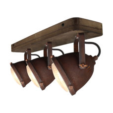 Plafondspot 3L Woody - Roest/hout