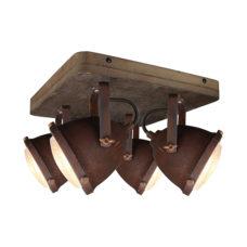 Plafondspot 4L Woody - Roest/hout