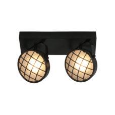 Plafondlamp 2L Balk Lazaro - Zwart