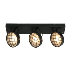 Plafondlamp 3L Balk Lazaro- Zwart