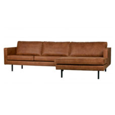 BePureHome Rodeo bank met chaise longue rechts - Cognac